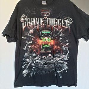 Grave digger Gildan t shirt monster truck jam xl